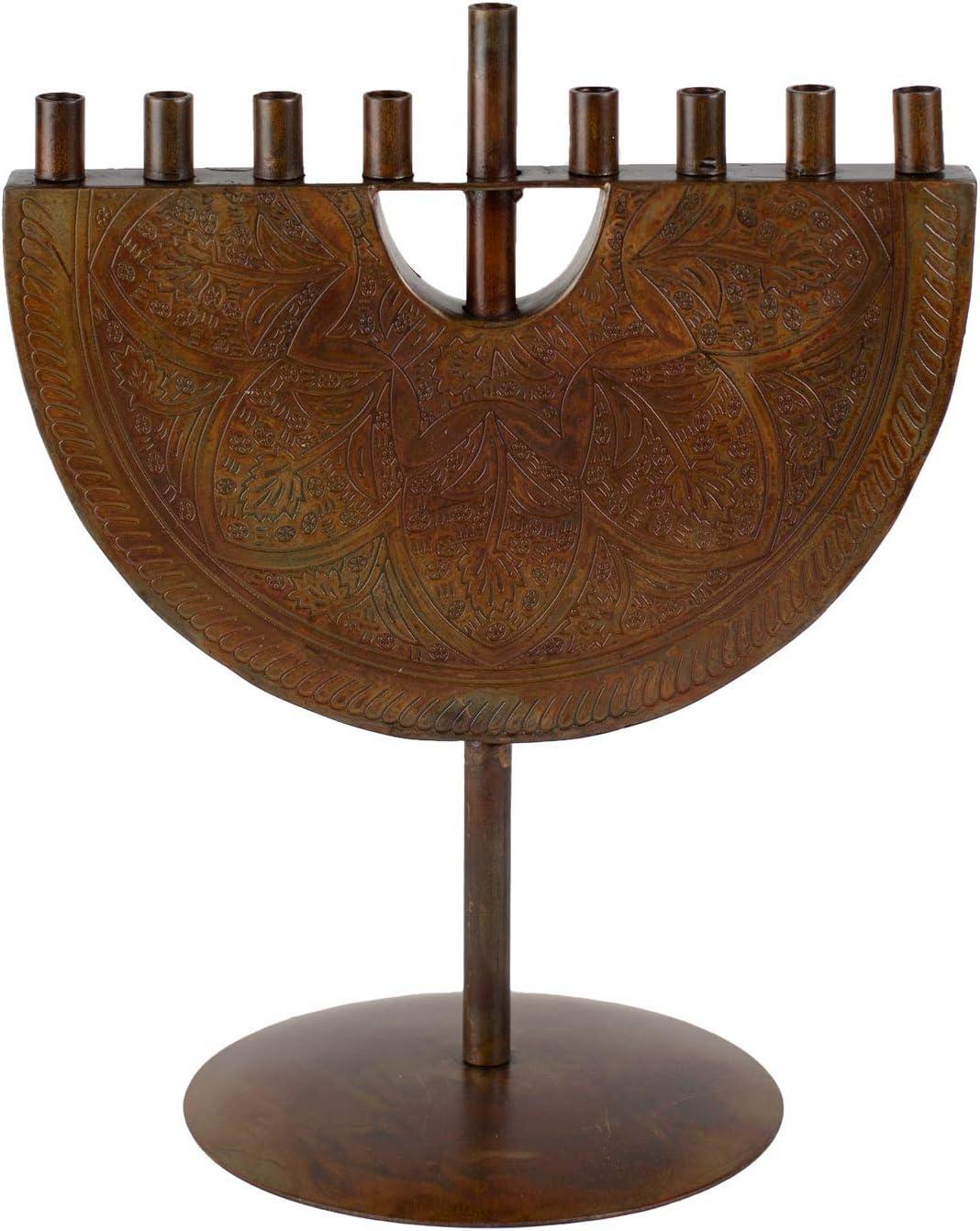 Engraved Iron Menorah