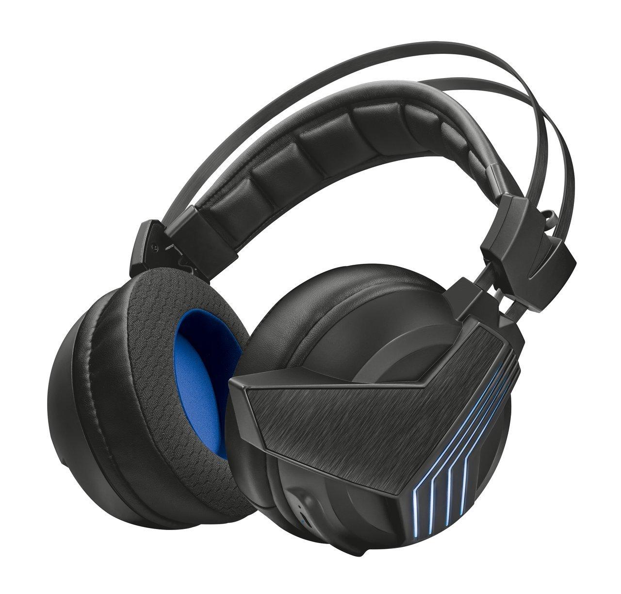Trust Gaming GXT 393 Magna Cuffie Gaming Wireless Over-Ear con Unità Altoparlanti e Suono Surround 7.1, Nero 22796