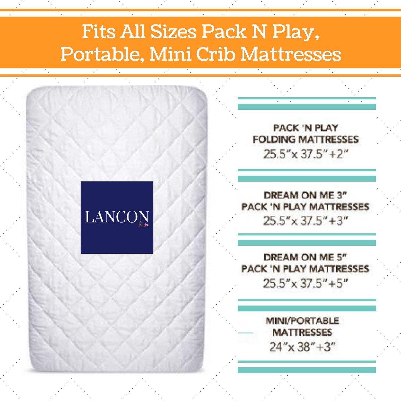 Pack N Play Crib Mattress Cover Bonus Changing Pad Liner