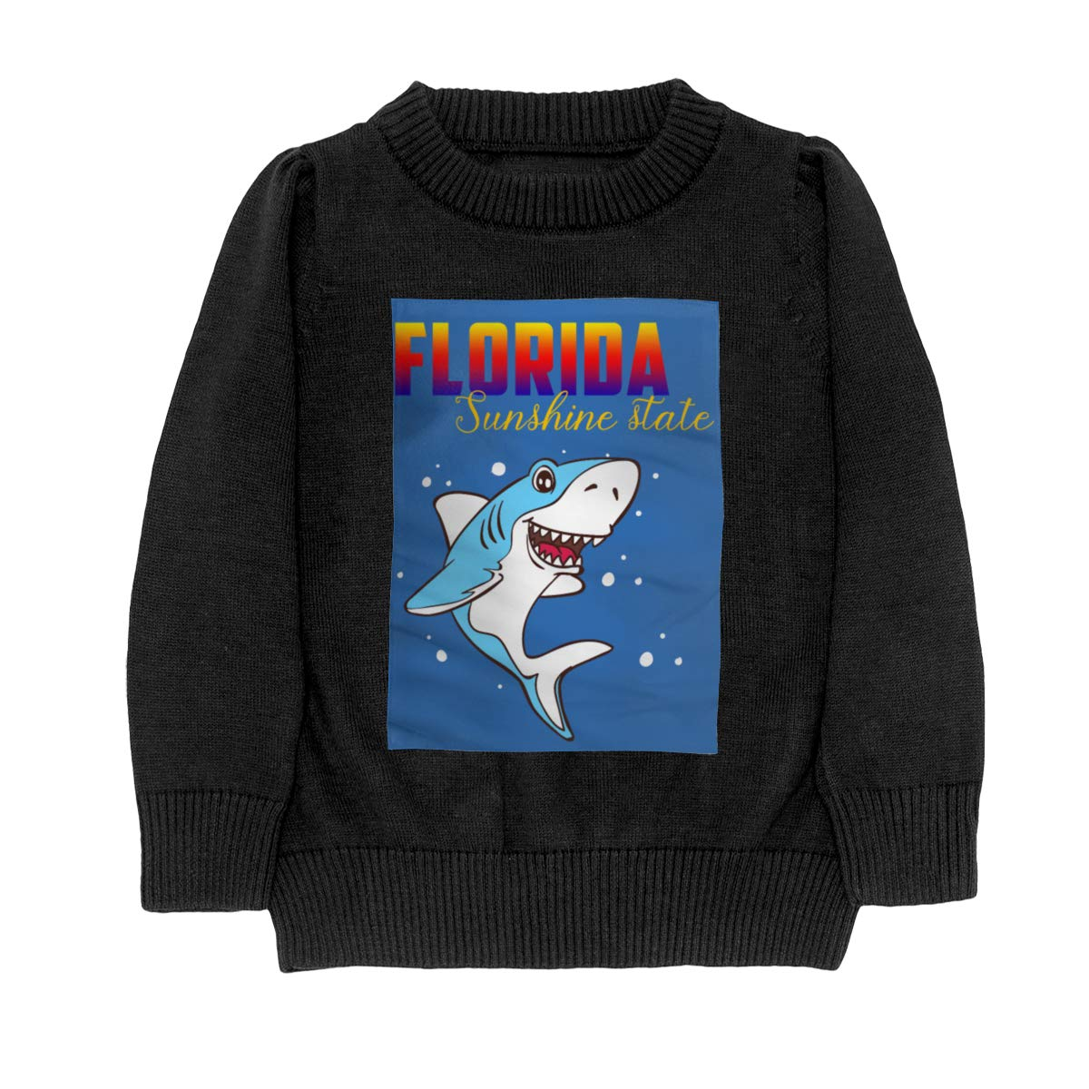 Florida Sunshine State Shark Knit Sweater Pullover for Youth Girl