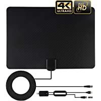 TV Antenna, 2020 Newest Indoor Amplified HD TV Antenna Up to 120-150 Miles Range,Support 4K 1080P HD VHF UHF for Local…