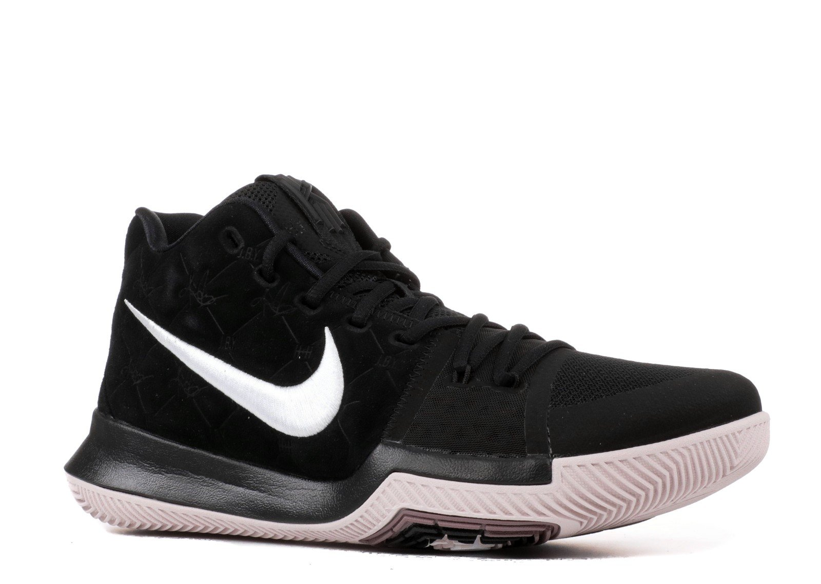NIKE Kyrie 3 Men's Basketball Shoes (11.5, Black/White)