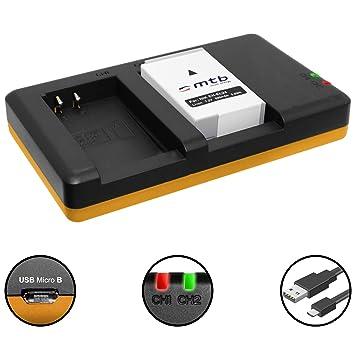 Batería + Cargador Doble (USB) para EN-EL24 ENEL24 | Nikon 1 J5 | Nikon DL18-50, DL24-85, DL24-500 - Contiene Cable Micro USB