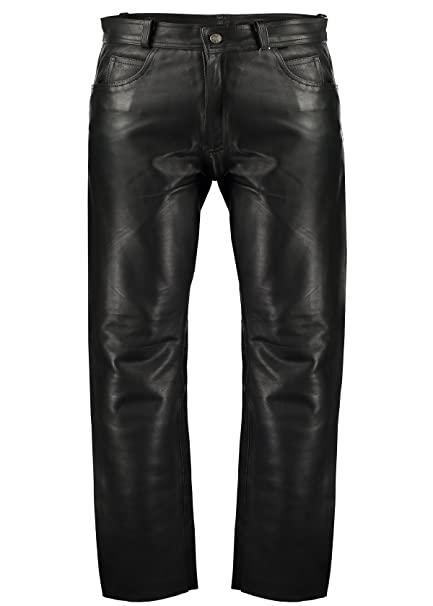 many choices of sale online hot-selling fashion MyLeather Black Classic Fitted Biker Trouser   Mens Pure Leather Trousers    Mens Leather Biker Trousers   Best Leather Trousers for Mens   100% ...