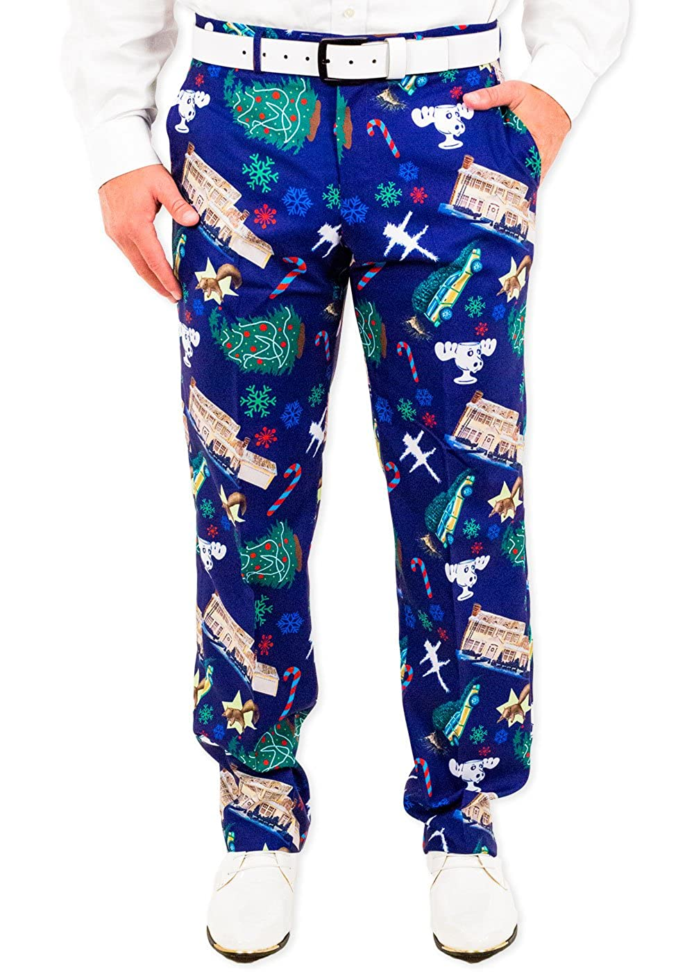 Festified Men's Christmas Vacation Griswoldacious Holiday Suit Pants In Navy