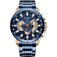 Festnight CURREN 8363 Relógio para homem masculino Relógio de pulso de quartzo masculino Relógios com pulseira de aço…