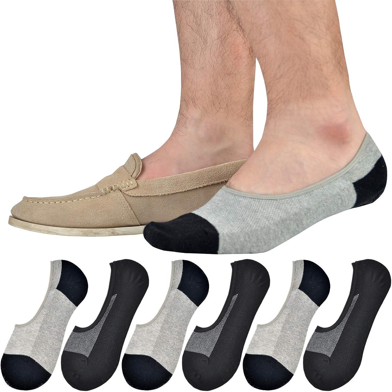 Jormatt Genuine Mens No Show Socks,Loafer Sneakers Low Cut Cotton Socks With Non Slip Grips