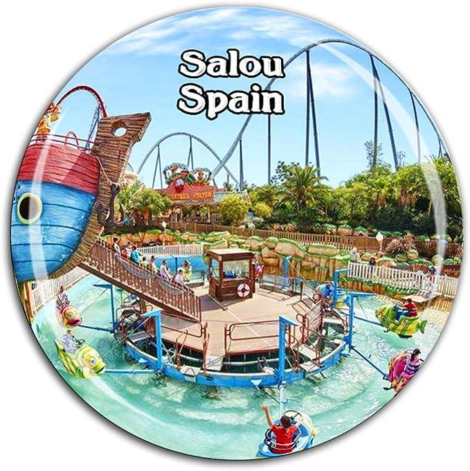 Weekino Port Aventura Park Salou España Imán de Nevera Cristal 3D ...