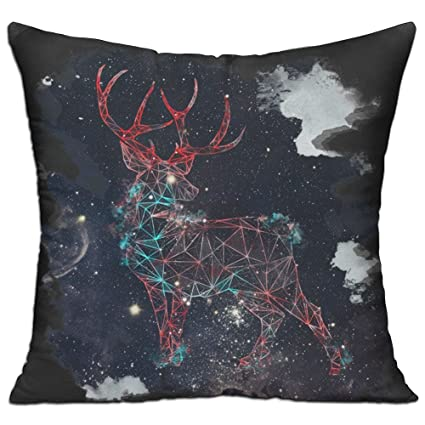Awe Inspiring Amazon Com Dkretro Celestial Deer Throw Pillows Include Inzonedesignstudio Interior Chair Design Inzonedesignstudiocom