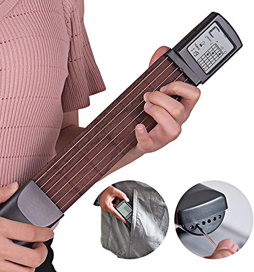 XMZWD 6 Cuerdas Guitarra De Bolsillo Portátil Guitarra Acústica ...