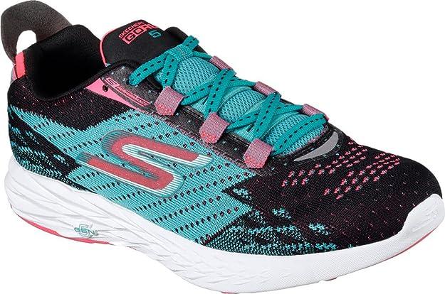 Zapatillas para correr Go Run 5 para mujer Black / Teal 6.5 B (M ...