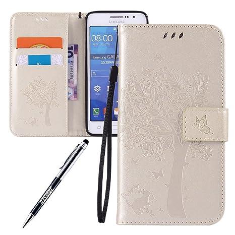 Carcasa Samsung Galaxy Grand Prime G530, Funda Samsung Galaxy Grand Prime G530, JAWSEU Samsung Galaxy Grand Prime G530 Tapa Trasera Carcasa Diseño ...