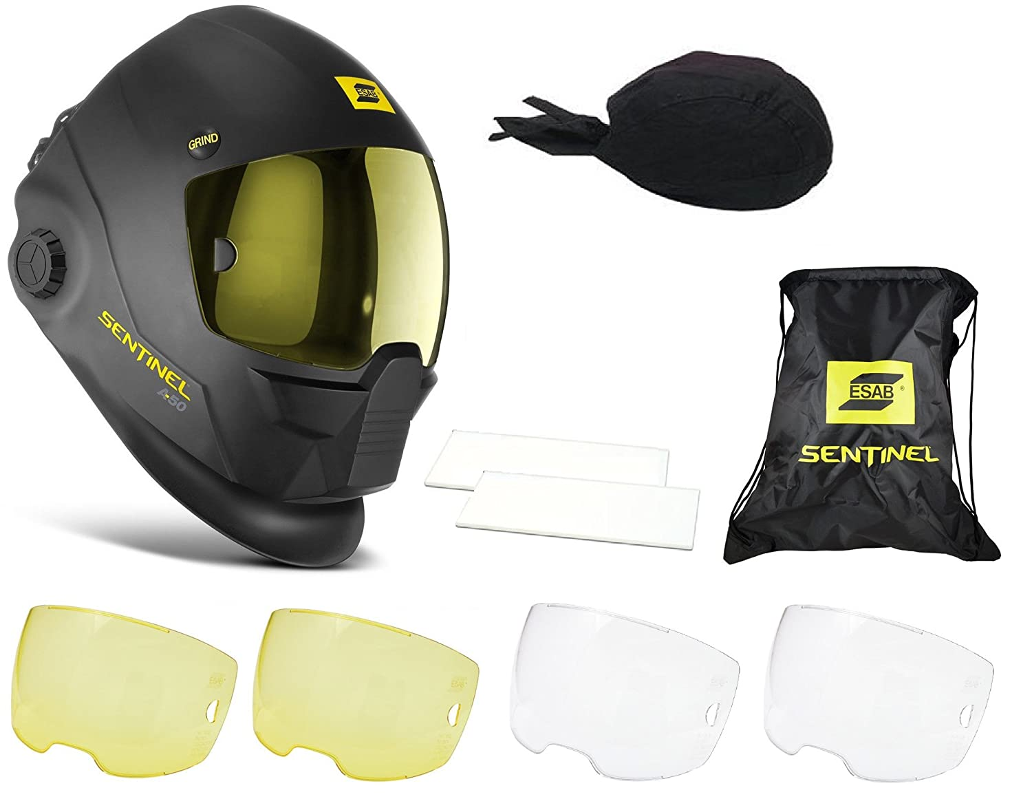 ESAB Halo Sentinel A50 Automatic Welding Helmet 0700000800 With FREE Accessories - - Amazon.com