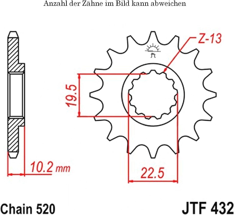 Ritzel 12 Z/ähne f/ür Alp 200 Baujahr 2000-2015 von jtSprockets