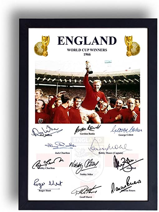 England 1966 World Cup Final Signed Presentation Print