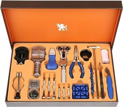 H&S. Juego de 155 herramientas con estuche para la reparación de relojes 155 Piezas: Amazon.es: Electrónica