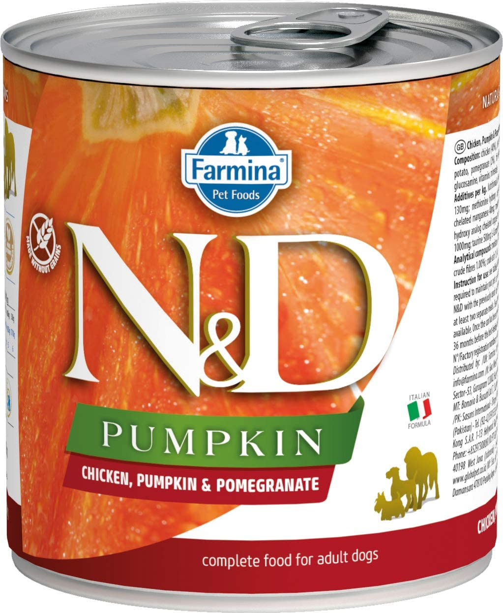 Farmina N&D Canine Pumpkin Chicken & Pomegranate 10 Ounces, Case of 6