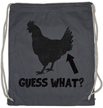 Amazon.com | Guess What ? Drawstring Bag Gym Sack Chicken ...