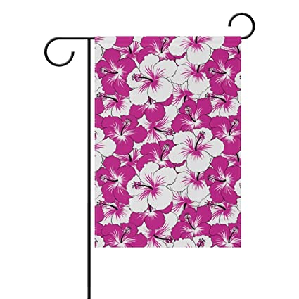Amazon com : ClustersN Hibiscus Flowers Double-Sided Printed