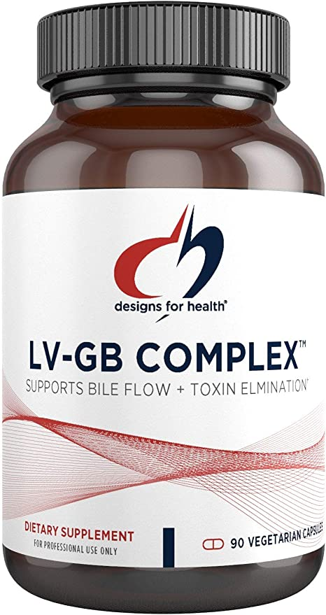 Designs for Health LV-GB Complex - Liver + Gallbladder Support Supplement with Milk Thistle, Vitamins + Herbs - Supports Bile Flow + Toxin Elimination, Liver Detox Pills (90 Capsules)