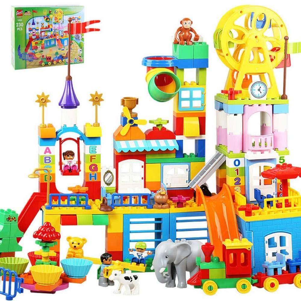 KAIDILA Bloc De BAU Amusement Park Park Park Puzzle Spielzeug Kinder große körnige Bausteine Montage 02348f
