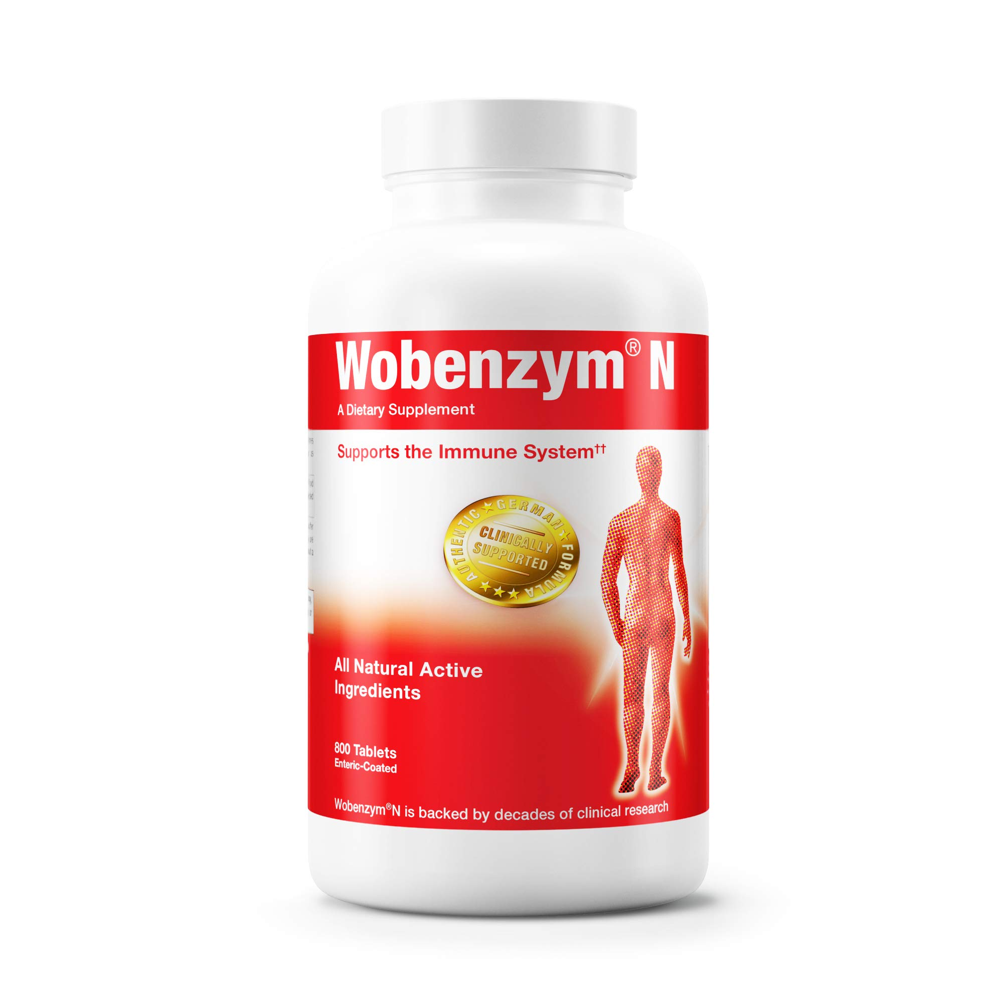 Wobenzym - Wobenzym N - Authentic German Formula Designed to Promote Healthy Joints and Muscles* - 800 Tablets