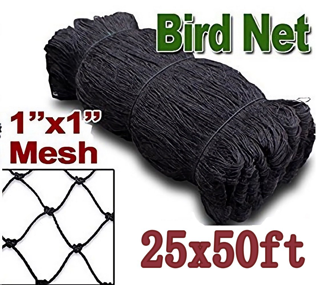 25' X 50' Net Netting for Bird Poultry Aviary Game Pens New 1'' Square Mesh Size (25' x 50')