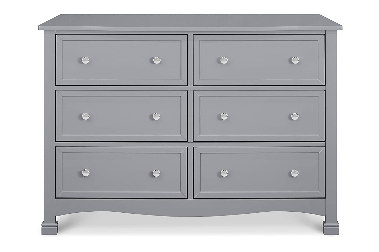 DaVinci Kalani 6-Drawer Double Wide Dresser in Grey