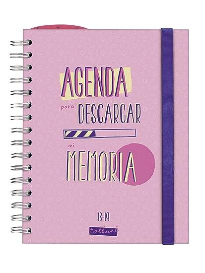 Finocam Talkual - Agenda escolar 2018-2019 1 día página español, 155 x 215 mm, rosa