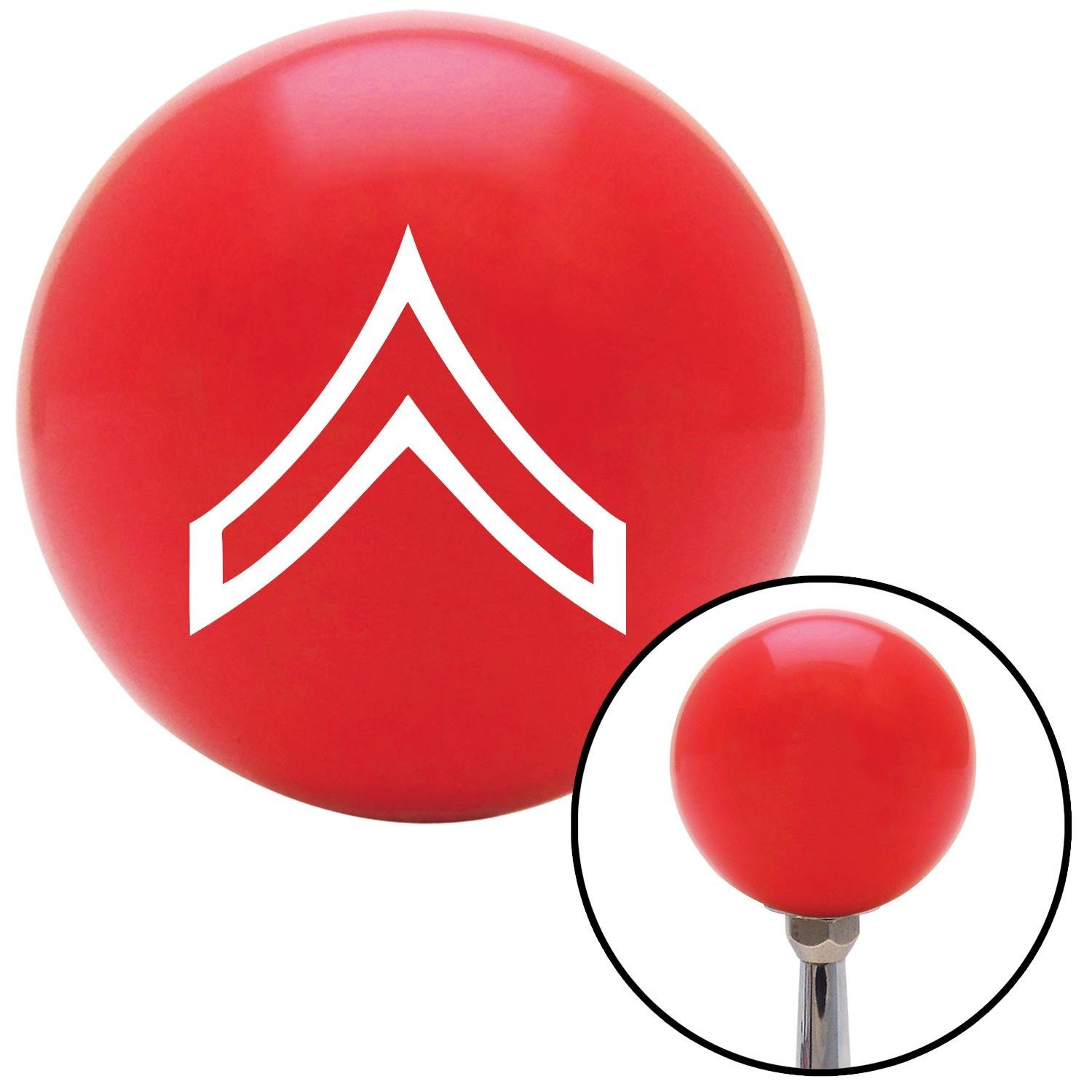 American Shifter 97839 Red Shift Knob with M16 x 1.5 Insert White Private