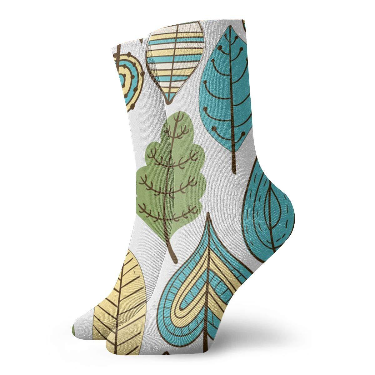 SESY Tropical Leaves Unisex Crew Socks Short Sports Stocking