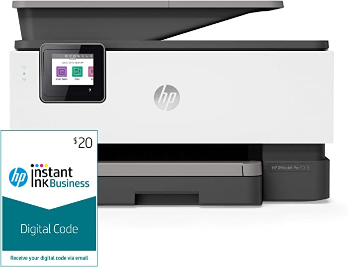 HP OfficeJet Pro 9015 All-in-One Wireless Printer, with Smart Tasks and Instant Ink Business  Prepaid Code