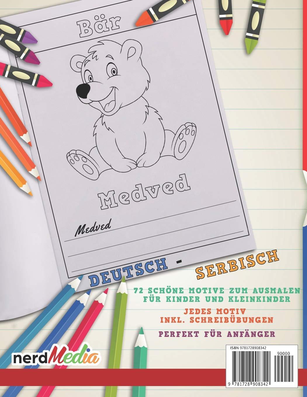 Malbuch Deutsch Serbisch I Serbisch Lernen Fur Kinder I Kreativ