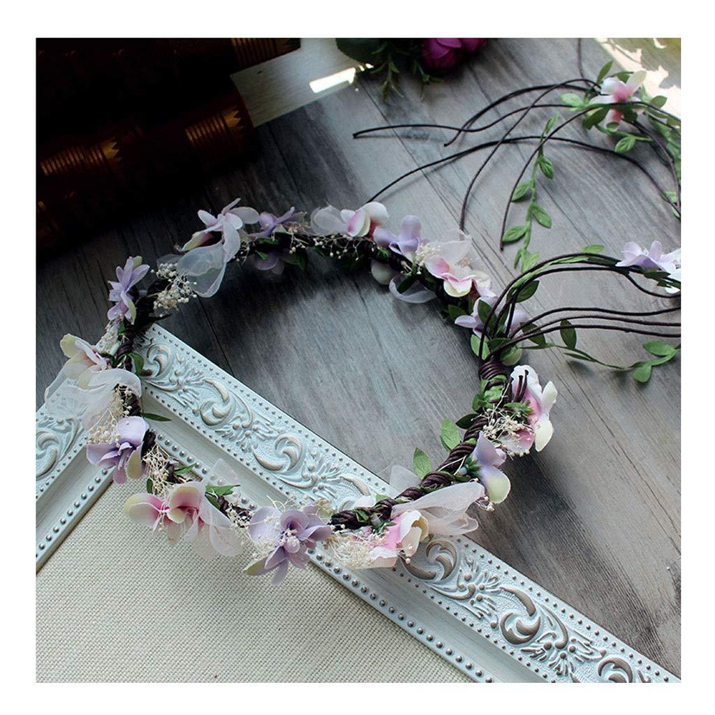 Wreath Flower Children's Hair Accessories Wedding Headband Handmade Rattan Girl Headwear hat Decoration