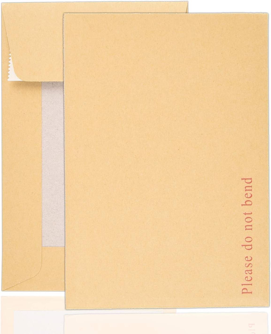 Buste con dorso rigido 162 x 114 mm confezione da 100 Arpan formato A6 formato C6 Manilla