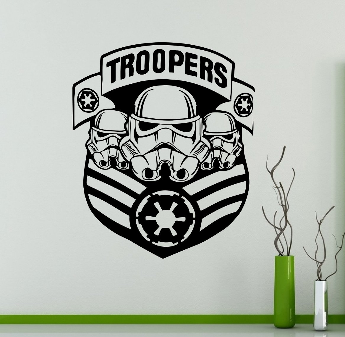 Star wars military badge wall decal stormtrooper vinyl sticker galactic empire home interior decor custom decals 16str amazon com