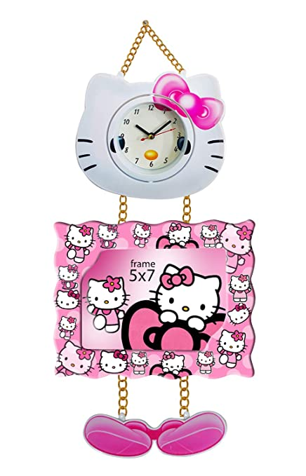 Buy Majik Cartoon Character Photo Frame with Clock for Girls and ...