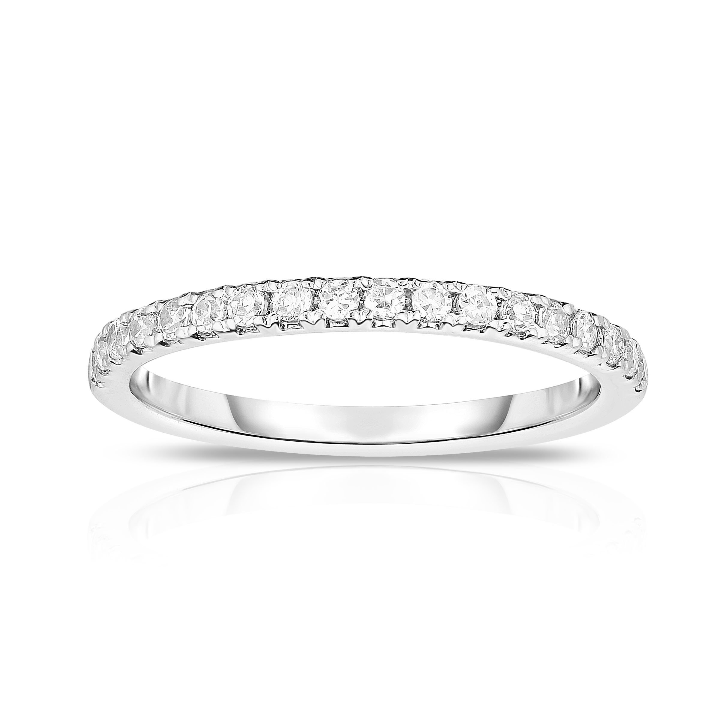 Noray Designs 14K White Gold Diamond (0.35 Ct, G-H Color, SI2-I1 Clarity) Wedding Band