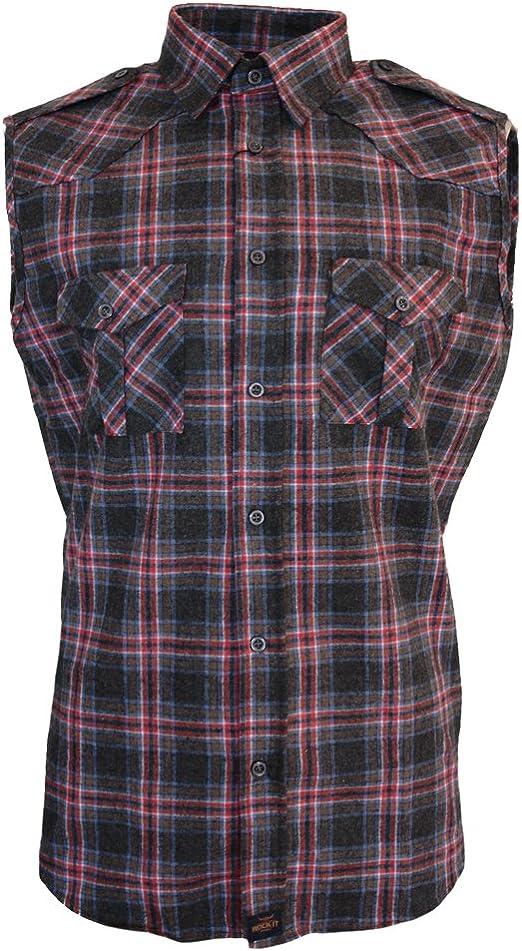 ROCK-IT Apparel® Camisa de Franela de sin Margas para Hombres Camisa de leñador a Cuadros Fabricada en Europa Negro Rojo Azul a Cuadros 5XL: Amazon.es: Ropa y accesorios