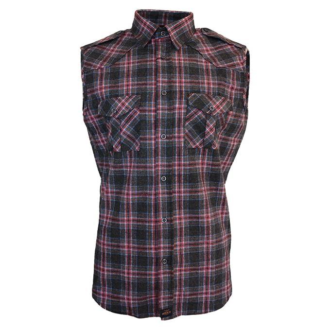 ROCK-IT Camisa de franela de sin margas para hombres camisa de leñador a cuadros fabricada en Europa diversos colores S-5XL 74SZ8