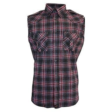 cd48b872e0 ROCK-IT Apparel® Camisa de Franela de sin Margas para Hombres Camisa de  leñador a Cuadros Fabricada en Europa Diversos Colores S-5XL  Amazon.es   Ropa y ...