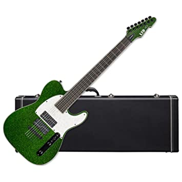 ESP LTD SCT-607 Stephen Carpenter Baritone - Guitarra eléctrica (color verde brillante) con ha: Amazon.es: Instrumentos musicales