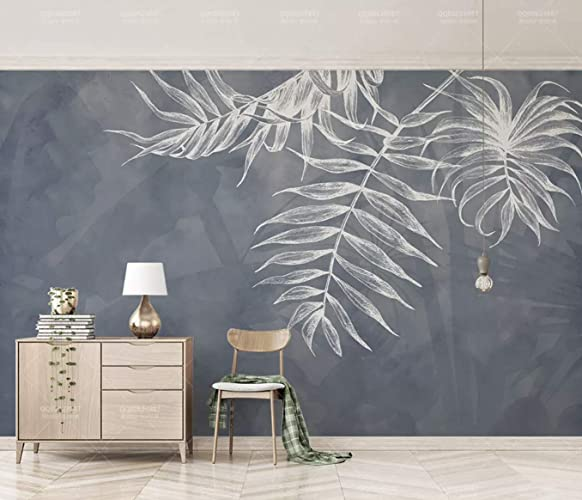 Amazon Com Murwall Leaf Wallpaper Tropical Wall Murals