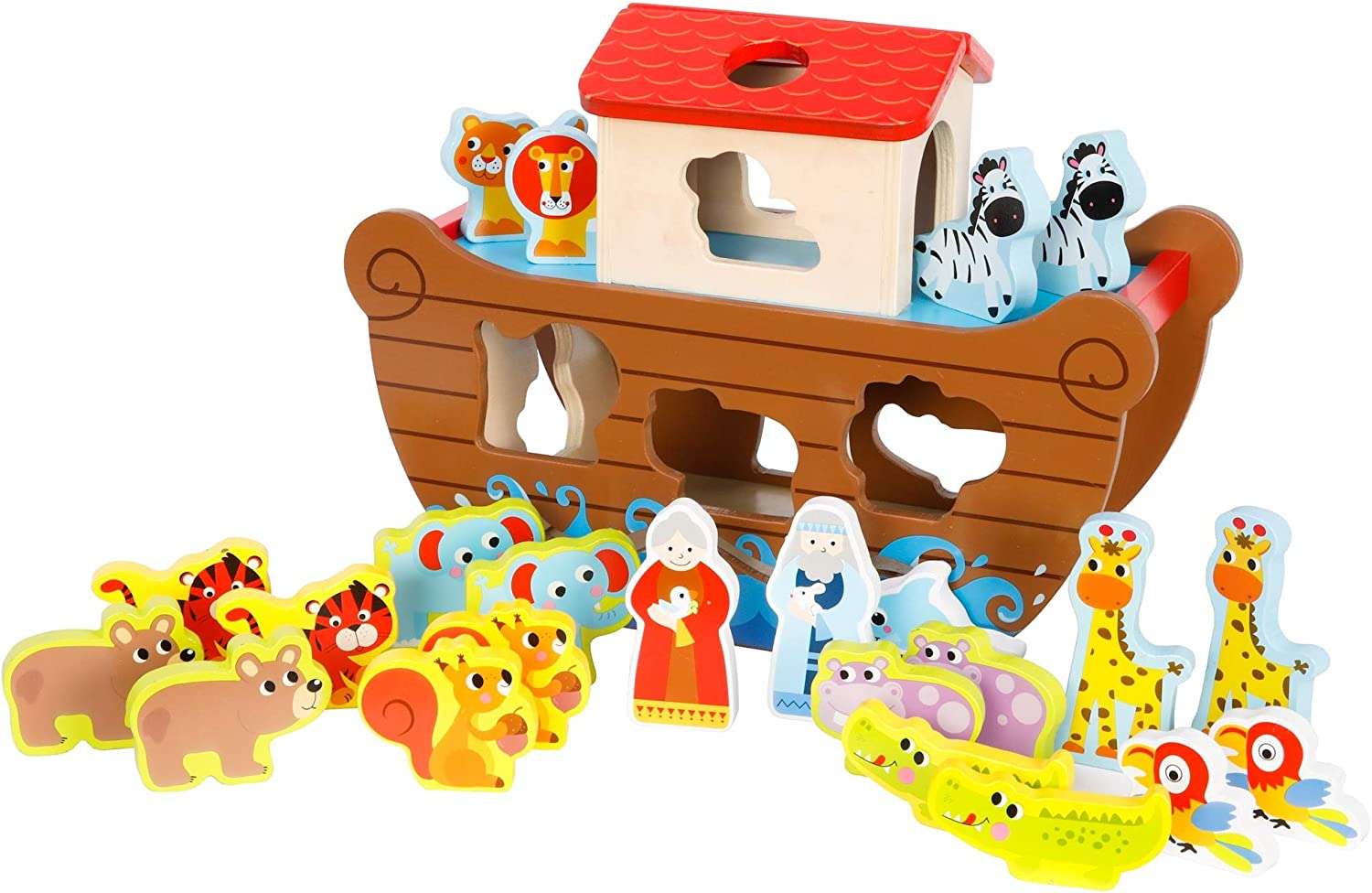 Fat Brain Toys Noah's Ark Sort & Play Set Early Learning Toys for Babies
