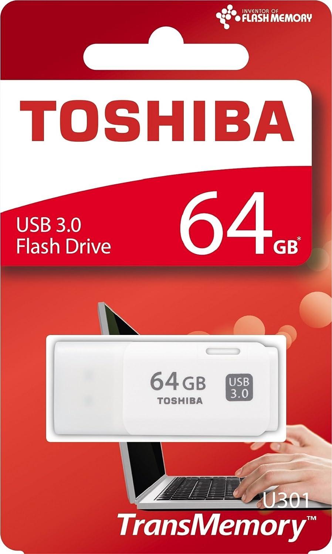 Toshiba Transmemory U301 64gb Usb Stick Usb 3 0 Weiß Computer Zubehör