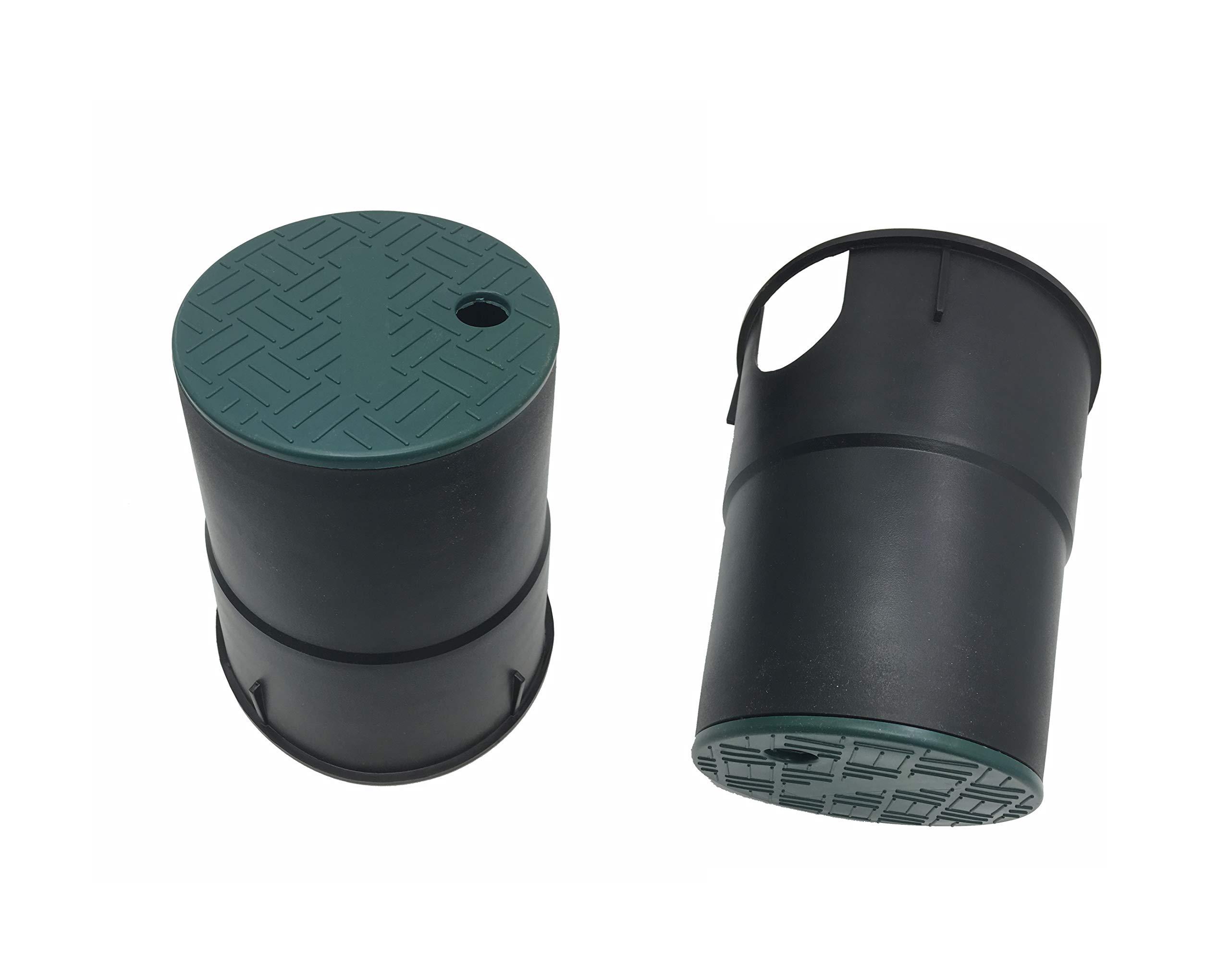 Leader_Pneumatic Valve Box Cover 6'' Round Sprinkler System Irrigation Circular Valve Box,2 Pack by Leader_Pneumatic