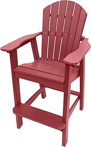 Phat Tommy Recycled Poly Resin Balcony Chair Durable and Eco-Friendly Adirondack Armchair. This Patio Furniture is Great for Your Lawn, Garden, Swimming Pool, Deck.