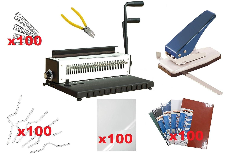 Heavy Duty Calendar Making Kit, Punch & Bind Wire Machine, Thumb Cut ...