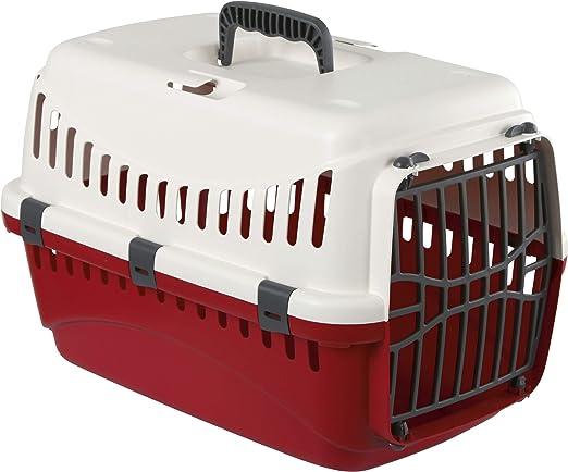 Kerbl Expedion - Transportín de plástico, Crema/Burdeos, 45 x 30x 30 cm: Amazon.es: Productos para mascotas