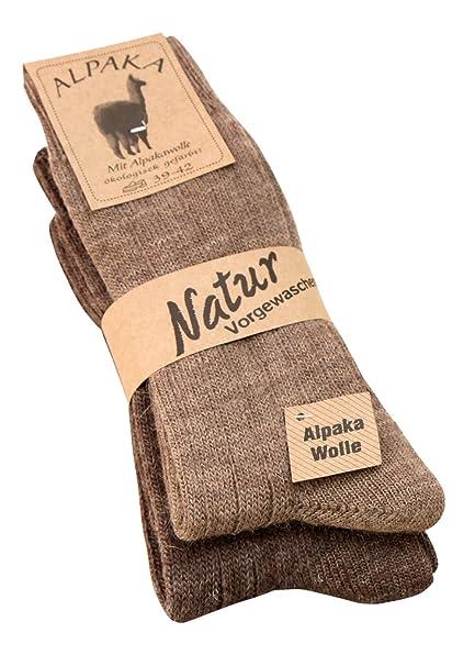 Calcetines de lana de alpaca y angora, lana suave y cálida, 2 pares: Amazon.es: Ropa y accesorios